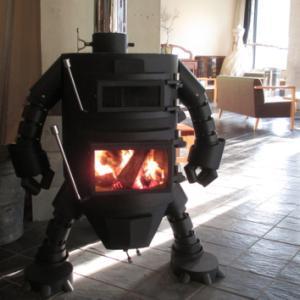 ロボット型薪ストーブ☆