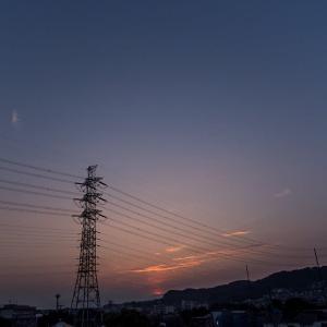 8月4日(火) 日の出と月の出