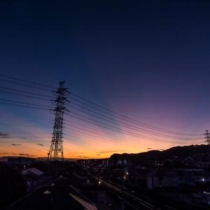9月11日(金)早朝 薄暗い時間のウォーキング
