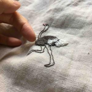刺繍の修繕