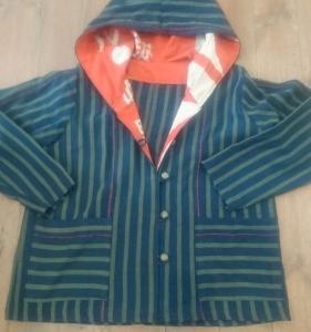 久々に古布でジャケットを作りました♪
