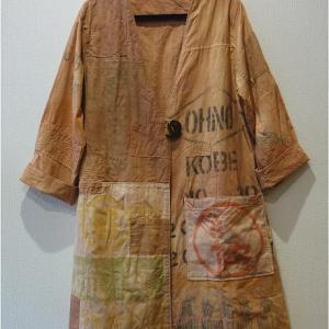 新作 粉袋のコートと風呂敷のパーカーをヤフオクに出品しました!