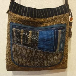 古布を使った新作のバッグが完成しました♪