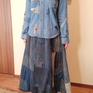 襤褸のスカートファッション