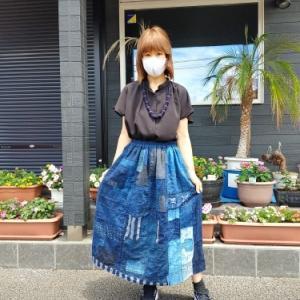 襤褸ギャザースカート完成