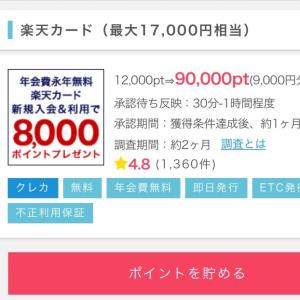 あと2日!楽天カード発行で17,000円もらえます♪