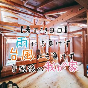 【着工40日目】雨にも負けず、台風にも負けず。台風後の我が家