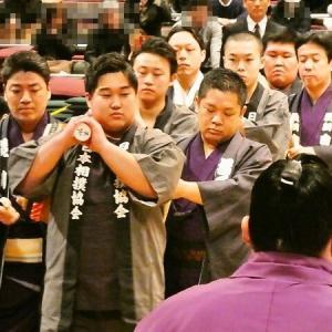 大相撲初場所 両国国技館 「土俵祭  触れ太鼓」