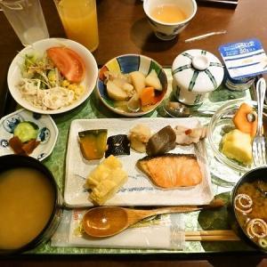 奈良市滞在の朝食は・・・「シカさんのお散歩に遭遇!」