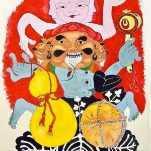 現代美術家 山田彊一氏 「京都・妖怪三十六景」 原画展に行ってきました♪ その2