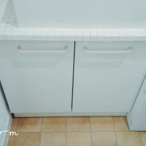 【洗面台下*見直し3】低い位置の収納に、一番良い場所。扉裏。