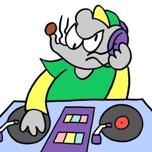 今日のイラスト78「DJマウス」