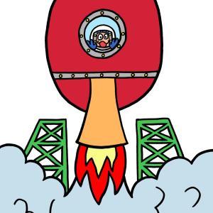 今日のイラスト84「ラケット発射」