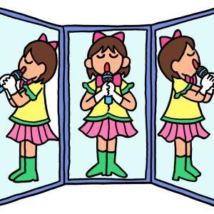 今日のイラスト105「三面鏡アイドル」