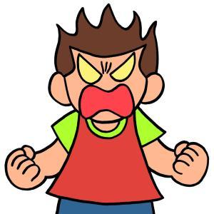 今日のイラスト109「怒りパワー」
