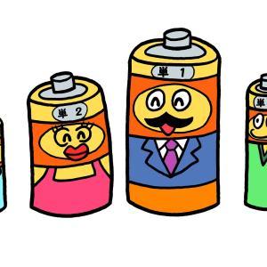 今日のイラスト247「乾電池家族」