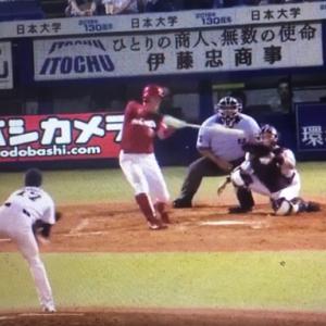 2019広島vsヤクルト15回戦小園海斗プロ第1号三好匠2試合連続本塁打