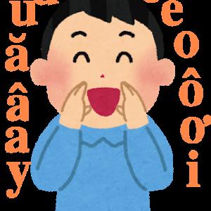 ベトナム語の母音の発音(単母音)