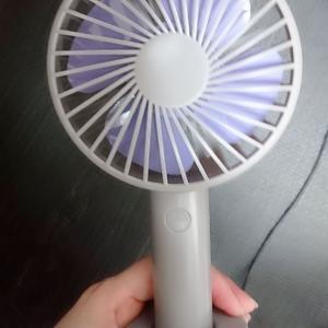 卓上扇風機がとっても便利