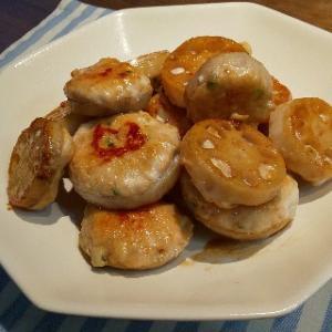 NHKみんなのきょうの料理のレシピ「れんこんのつくねのっけ」作りました!簡単で美味しいので作ってみて!