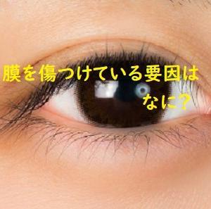 角膜を傷つけている要因は何か?日常生活で意識しておきたいこと