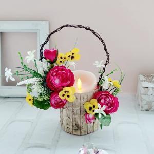 華やか&ピンクのキャンドルもぴったり 生徒様レッスン作品