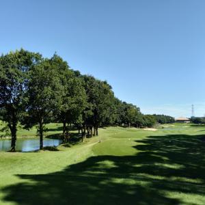 秋晴れの日にゴルフでリフレッシュ♡