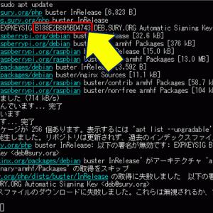 Raspberry Pi sudo apt update でのエラー対策
