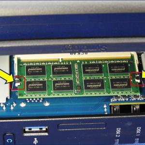 Synology DiskStation「DS218+」メモリ増設
