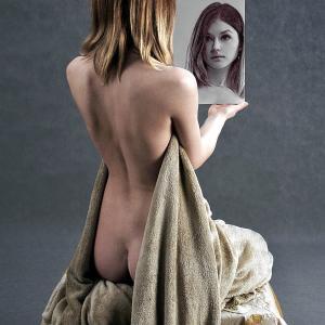 鏡の中の反転の世界