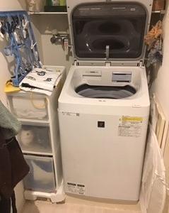 片付けビフォーアフター4・洗面所/出産前に住まいを整える