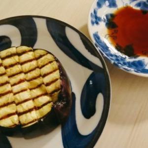 暑い夜にピッタリな絹かわなすを使った焼き茄子