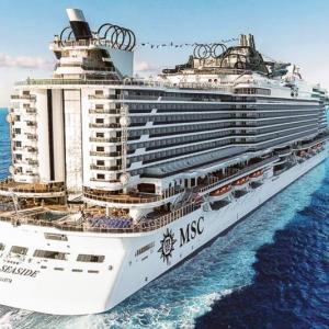 MSCクルーズの船【シーサイド】 で、『カリブ海 & アンティル諸島クルーズ』へ。