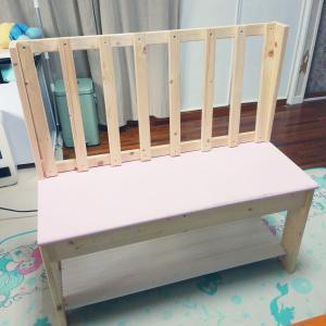 DIYで作ったベンチのペイントは来年に持ち越しです!