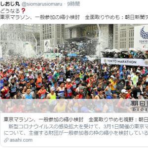 まじか~、東京マラソン中止