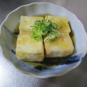めんつゆで作る揚げ出し豆腐