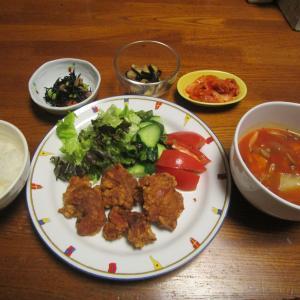 ミネストローネスープの夕食