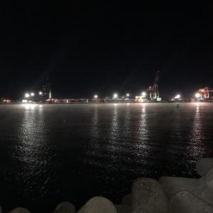 【夜釣り】苫小牧東港 寒い