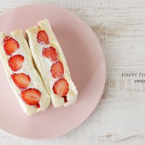 自家製フルーツサンド☆苺とカスタードのヨーグルトサンド