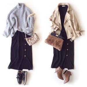 しまむら購入品 [新作] 幅広ベルトのリブニットスカート/届いたバッグ