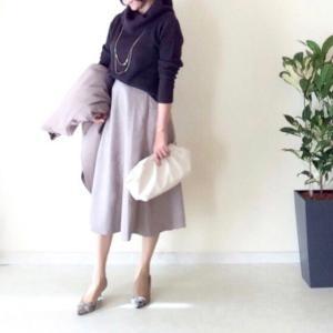 しまむらチラシ購入品 900円フレアスカートとあるぱか〜るコーデ
