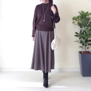 しまむら ギャザースカートには裾リブトップス/しまパトで欲しいアイテム