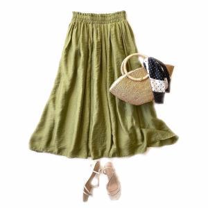しまむらチラシ購入品 990円 今季注目の艶つやスカート