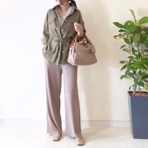 しまむら [購入品 着画] 330円のドロストシャツコーデ/エリザベスカラー