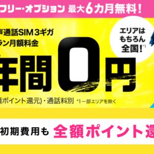 BIGLOBEモバイル SIMのみ契約の大型キャンペーンが大復活したぞ!