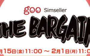 gooSimseller 「THE BARGAIN」セール 楽天市場・PayPayモール店 1月15日開始!