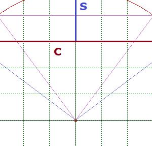 弦と矢から半径を求める