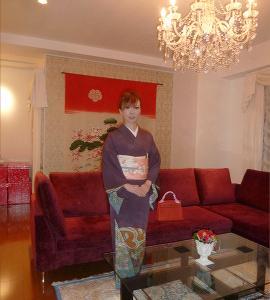 しだれ桜の訪問着に齋藤さんの桜帯で…西洋膳所あおやまへ