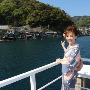 2015丹後旅行(7)ポピーの加賀友禅で…伊根湾めぐり遊覧船♡