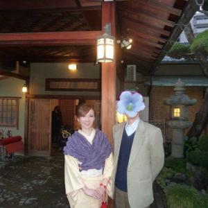 2014京都伏見大原旅行(1)紅花紬にマーガレット帯で伏見の和食
